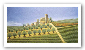 Tuscan Village with Olive Trees by Lowell Herrero