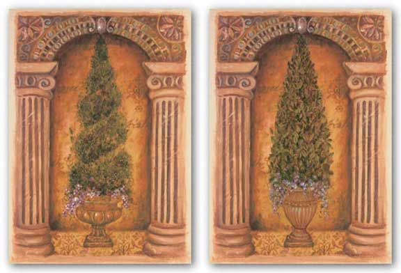 Boxwood and Cypress Niche Set by Shari White