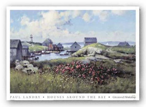 Houses Around The Bay by Paul Landry