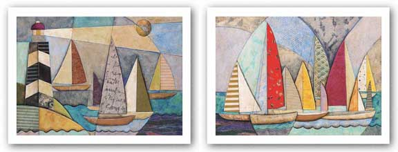 Race At Sea and Bay Regatta Set by Jennifer Bonaventura