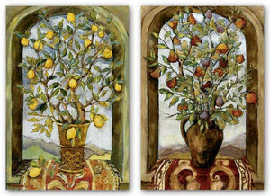Bouquet Of Figs, Pears And Pomegranates and Lemon Branch Bouquet Set by Nicole Etienne