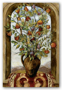 Bouquet Of Figs, Pears And Pomegranates by Nicole Etienne