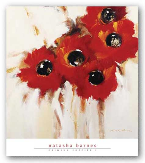 Crimson Poppies I by Natasha Barnes