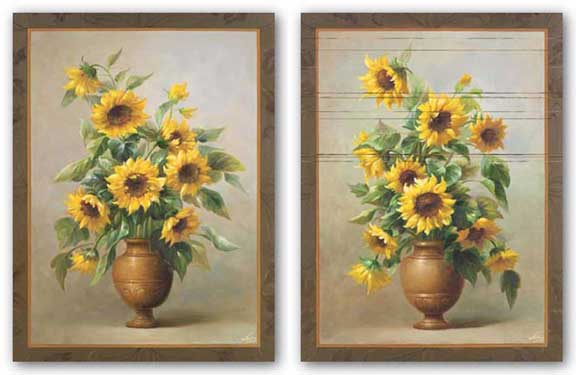 Sunflowers In Bronze Set by Welby