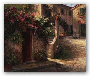 Magliano Courtyard by Art Fronckowiak