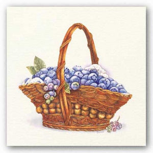 Basket Of Blueberries by Bambi Papais