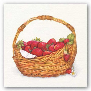 Basket Of Strawberries by Bambi Papais