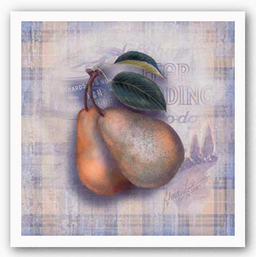 Tartan Fruit-Pear by Alma Lee