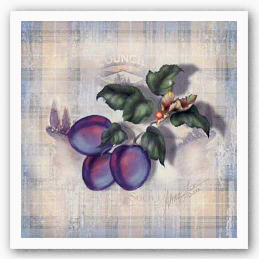 Tartan Fruit-Plum by Alma Lee