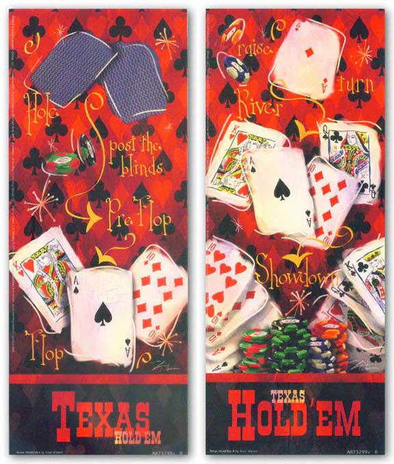 Texas Hold 'Em Set by Shari Warren