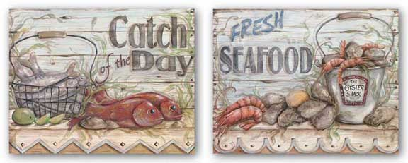 Fisherman's Catch III and IV Set by Kate McRostie