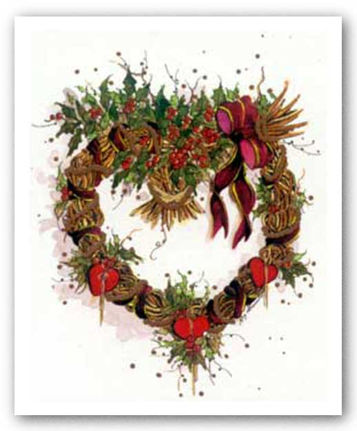 Hearts 'N Holly Wreath by Peggy Abrams