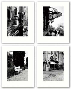 Paris Cafe - Bench, Portugal - Paris - Venice Bridge Set by Connie Begg