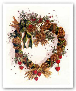 Hearts 'N Mistletoe Wreath by Peggy Abrams