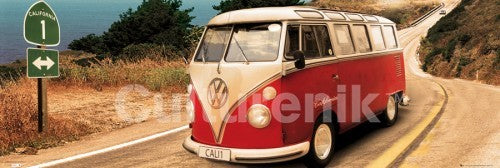 Volkswagen Camper Route One (Pacific Coast Highway) - Door Poster