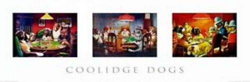 Poker Dogs Door by C.M. Coolidge