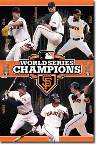 San Francisco Giants - 2012 World Series Champions (Matt Cain Ryan Vogelsong Sergio Romo Hunter Pence Pablo Sandoval Buster Posey)