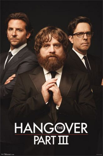 Hangover Part III Movie Poster - Trio (Bradley Cooper Zach Galifianakis Ed Helms)