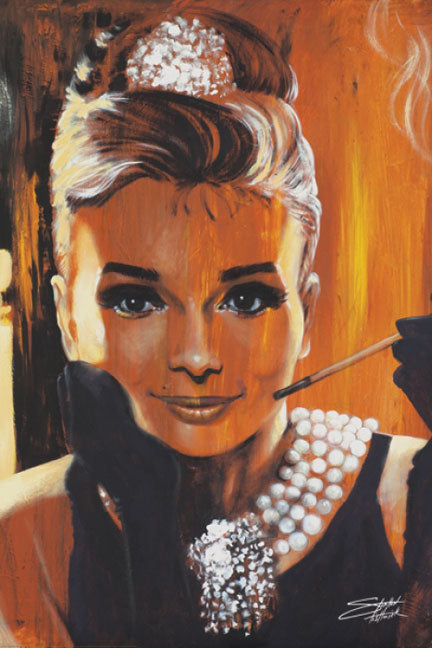 Audrey Hepburn - Breakfast by Stephen Fishwick
