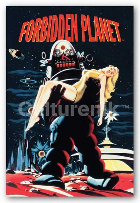Forbidden Planet Robby Carrying Woman