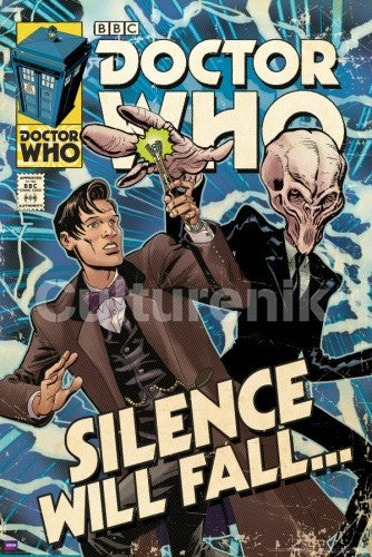 Silence Will Fall Doctor Who Comic Cover