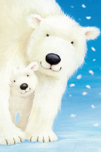 Fluffy Bears I - Polar Bears by Alison Edgson