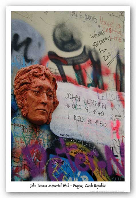 Lennon Wall Memorial - Prague