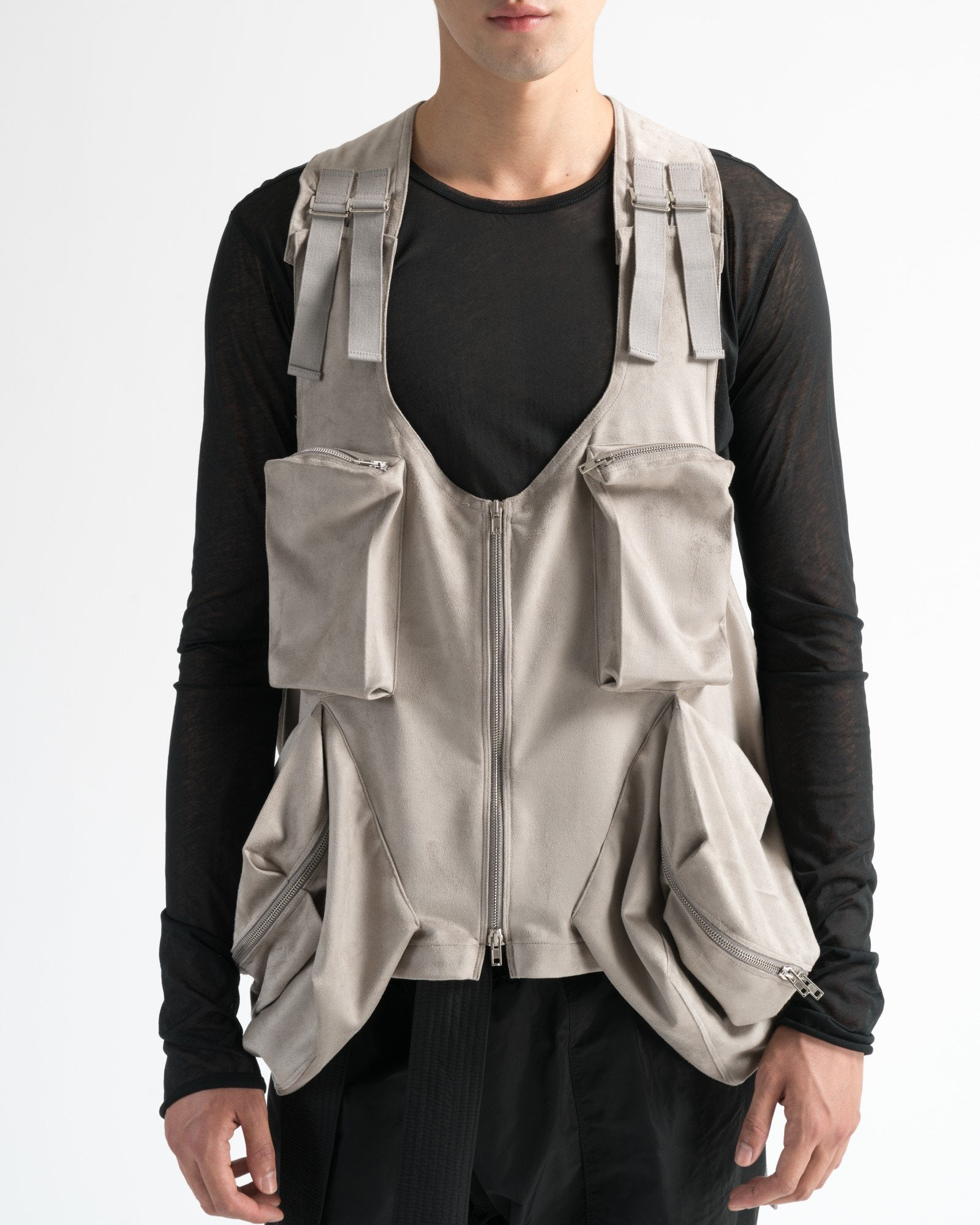 ultra-suede utility vest