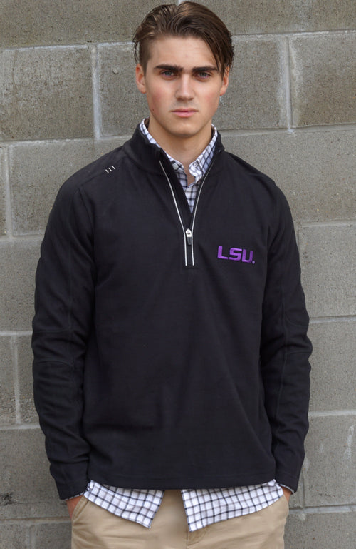 LSU Mens Fleece Quarter-Zip