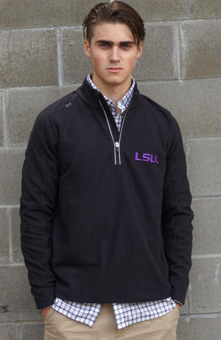 LSU Mens Box Weave Zip Front Jacket