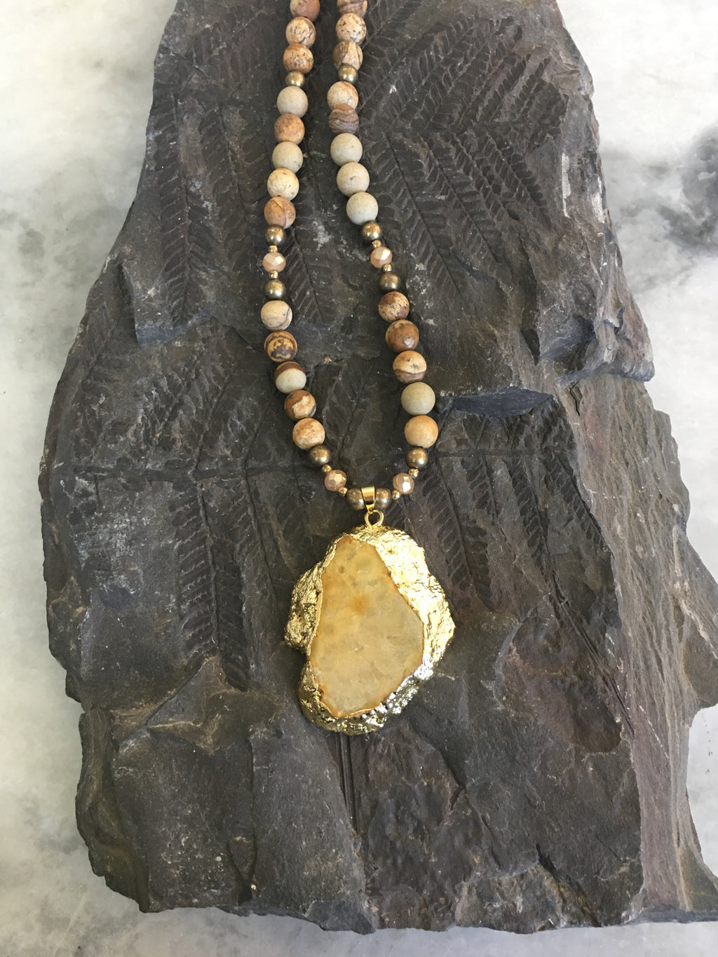 You're Golden Gemstone Necklace