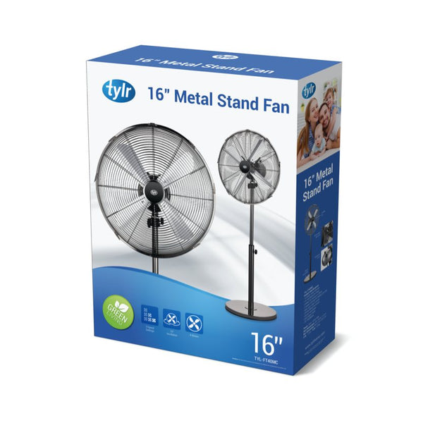 "16"" Gunmetal Stand Fan"