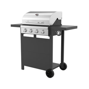 4-Burner BBQ Grill with Side Burner