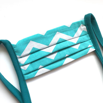True Summer Chevron Face Mask