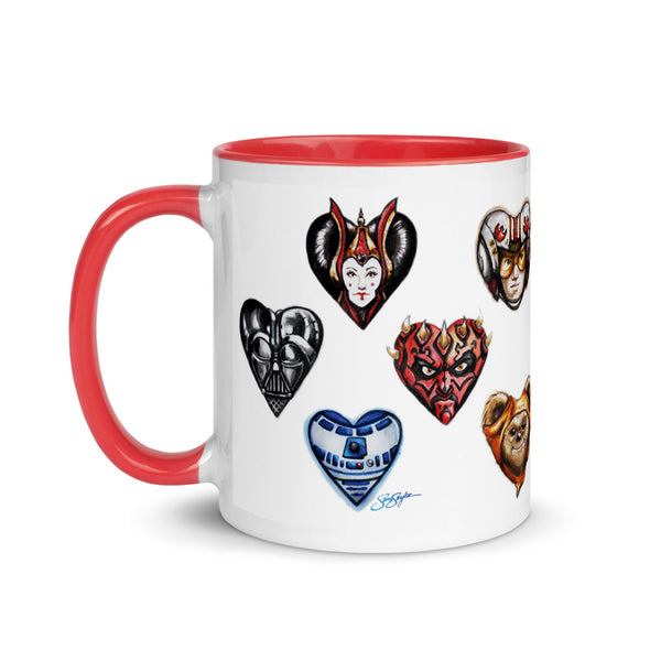 I Heart the Force Mug with Color