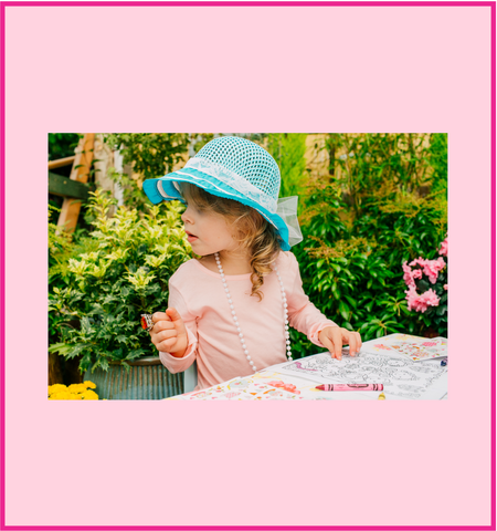 Girl's Tea Party Dress Up Sun Hats
