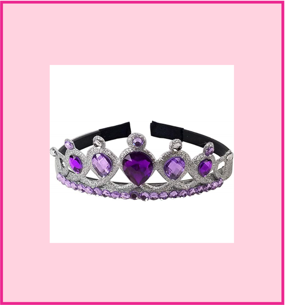 Girl's Queen/Princess Royal Purple Gem Tiara Crown Headband
