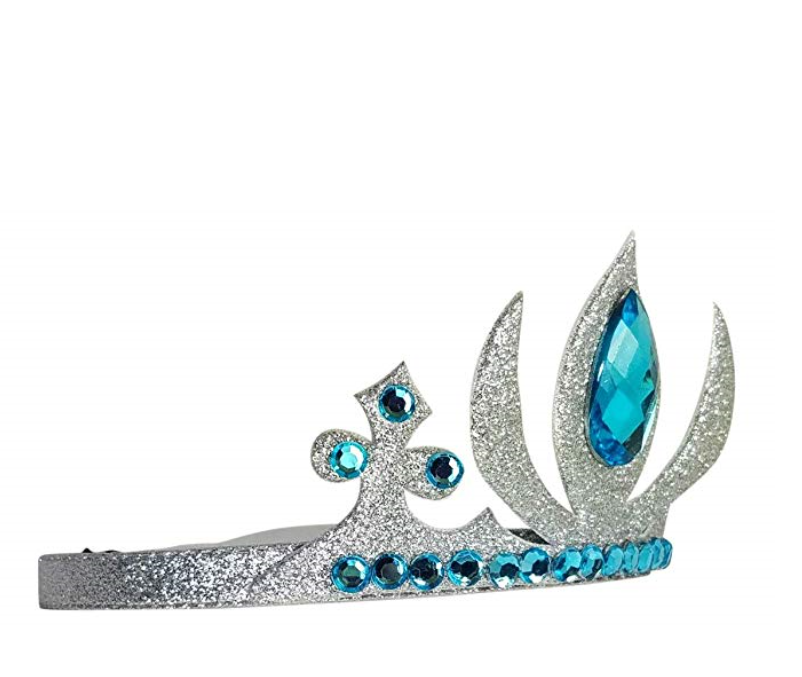 Girl's Queen/Princess Blue Acrylic Gem Tiara Crown Headband