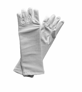 Girl's Long White Dress Up Gloves