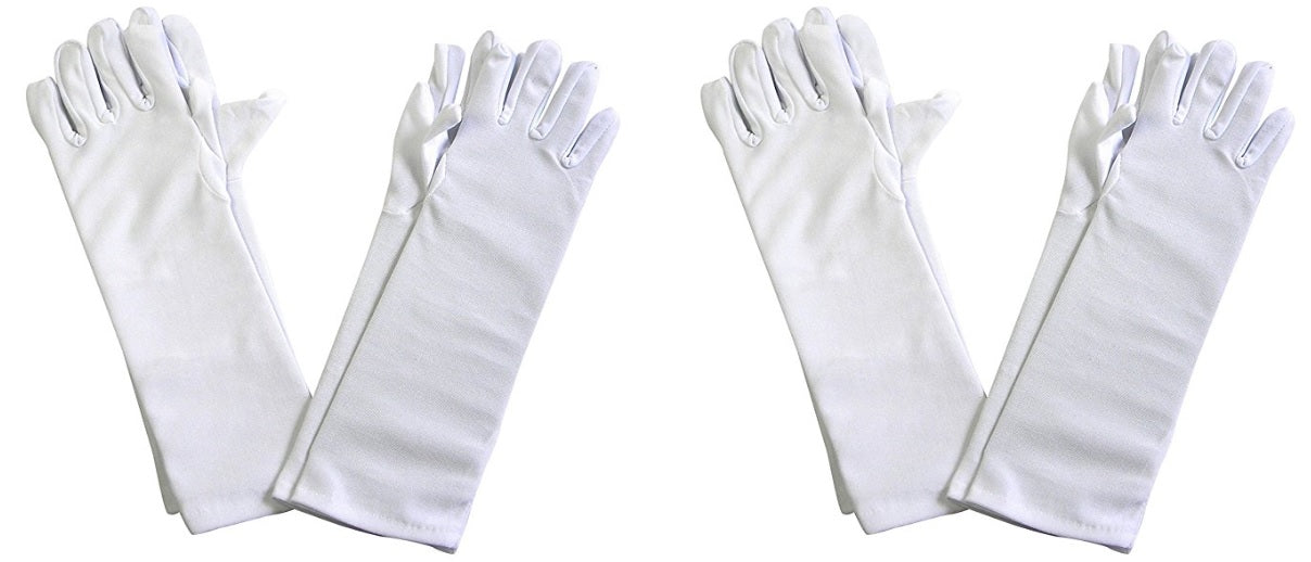 Girl's Tea Party Dress Up Boas and Long White Dress Gloves Set of 4 Each Polyester