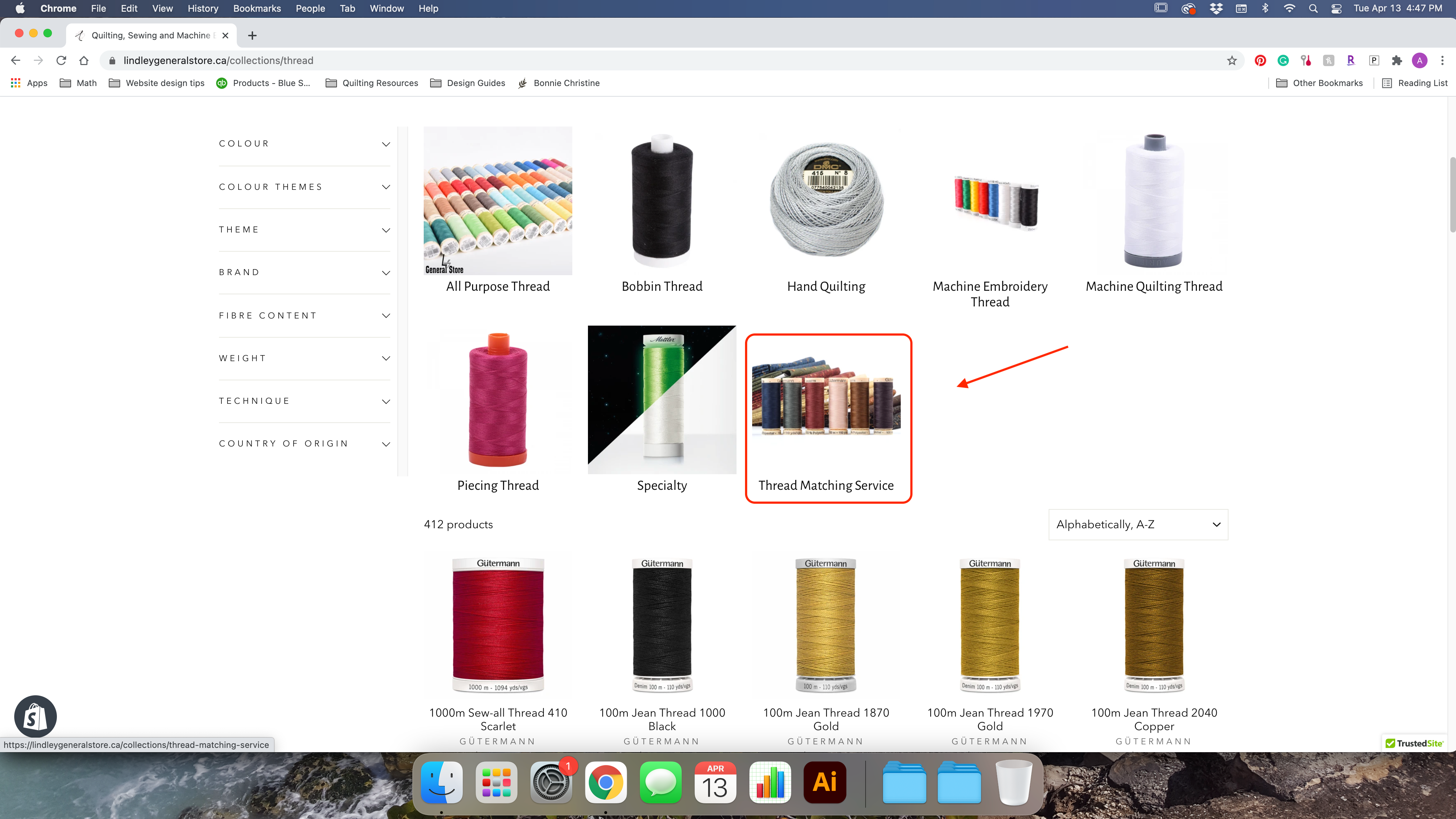Machine Sewing Thread collection