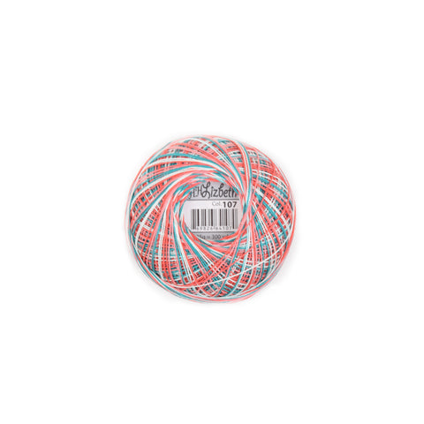 Lizbeth Cordonnet Cotton Thread Tropical Fruit 107