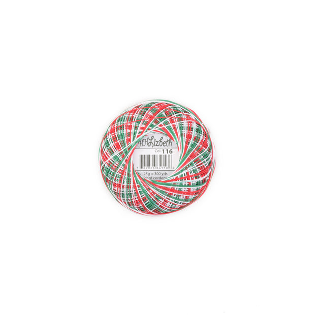 Lizbeth Cordonnet Cotton Thread Christmas Delight 116