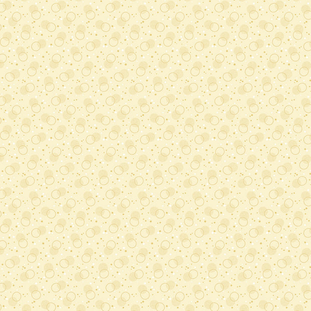 Benartex Homestead Colonial Cream Bubbles Quilt Fabric by Eleanor Burns