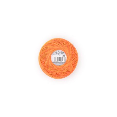 Lizbeth Size 10 Cotton Thread 183 Orange Crush