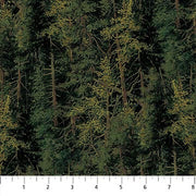 Naturescapes Evergreen Forest Fabric