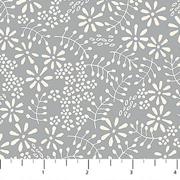Willowberry Ferns on Grey Fabric