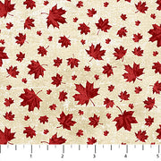 Canadian Classics Red on Cream Maple Leaves