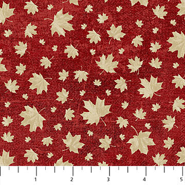 Canadian Classics Cream on Red Maple Leaves