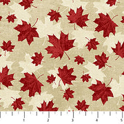 Canadian Classics Red Maple Leaves on Beige